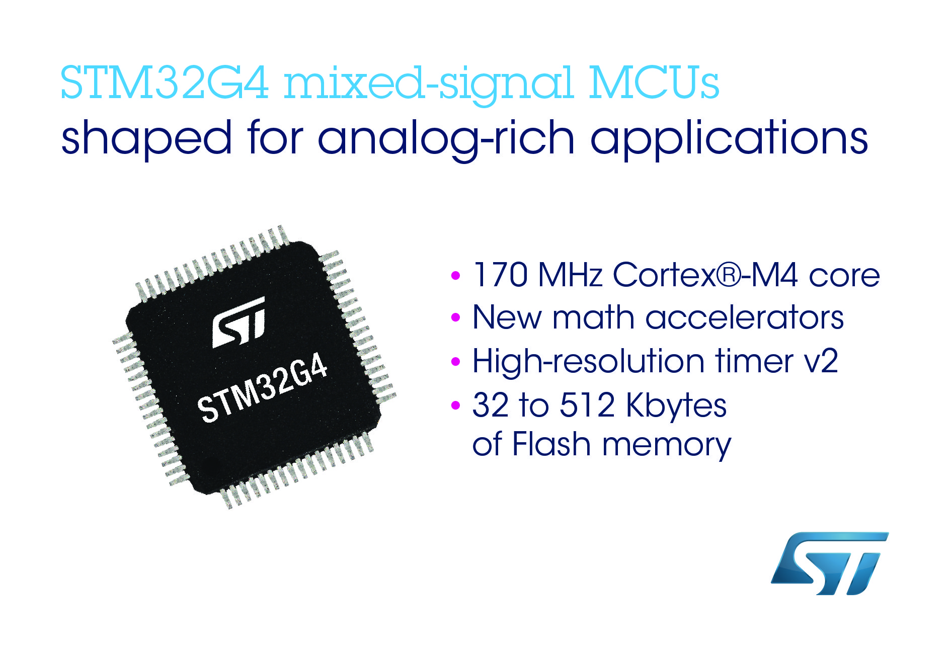 STMicroelectronics has released its STM32G4 microcontroller
